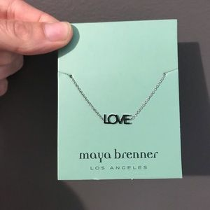 "Maya Brenner sterling silver ""LOVE"" bracelet."